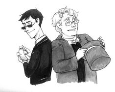 Good Omens: Doves and Magic Hats by daxarve