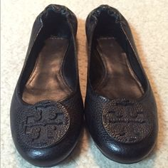 Tory Burch Black Flats Only worn a handful of times...like new. Tory Burch Shoes Flats & Loafers
