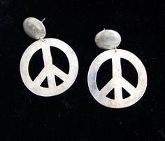 Peace Earrings.   global pieces  http://www.etsy.com/listing/94347739/peace-earrings-made-of-sterling-silver