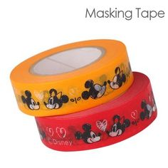 Disney Characters Masking Tape (Love Love Mickey and Minnie/ Red x Yellow) Masking Tape, Washi Tape, Design Tape, Craft Supplies, Office Supplies, Fun Crafts, Organizing, Bullet Journal, Amazon