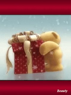 New Gifts Christmas Friends Happy Holidays 38 Ideas Tatty Teddy, Teddy Bear, Christmas Images, Christmas Wishes, Christmas Greetings, Christmas Gifts, Gifs, Birthday Wishes, Happy Birthday