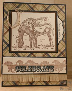 great guy card with horses