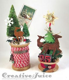 After giving us lots of advent calendar ideas, Natacha comes back to accompany us in our preparation for Christmas. Handmade Christmas Gifts, Rustic Christmas, Vintage Christmas, Christmas Holidays, Christmas Decorations, Christmas Ornaments, Primitive Christmas, Christmas Christmas, Christmas Projects