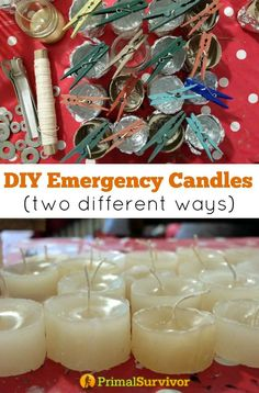 How to Make DIY Emergency Candles (Two Different Ways). A detailed tutorial guiding your through the whole process from choosing the wax and wick, to pouring the wax into the mason jar mold. #DIY #Poweroutage #wax #kit #candles #soy #wick #masonjars #emergencyprepearedness