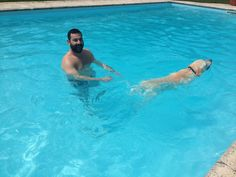 Jagger and I taking a swim!