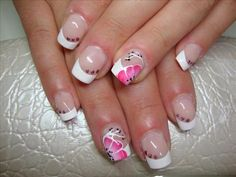 One stroke nail art by Elenoire from Nail Art Gallery One Stroke Nails, Nail Art Galleries, Nails Magazine, Hair And Nails, Nail Colors, Nail Designs, Hand Painted, Manicures, Floral