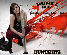 "Another beautiful model for www.huntzhitz.com Displaying a Custom 36"" Twist! Water Bongs, Beautiful Models"