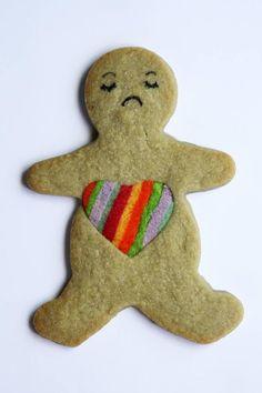 broken hearted ginger bread man