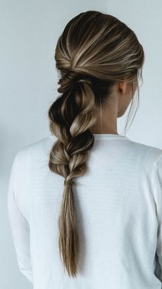 Simple braided hair by Nike Nitz – Rouge Rosé