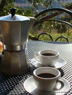 #Moka espresso / #Kawa na tarasie w Toskanii