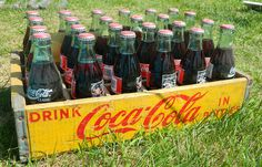 Coca-Cola bottles in crate - LOCATION: North of Greenville, OH, Highway 127 in Darke county.