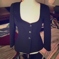 Armani collezioni black blazer Cotton elegant cut black blazer Armani Collezioni Jackets & Coats Blazers