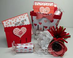 Groovy Love Valentines - My January Gift To You! Tutorial available, Stampin' Up! Berry Basket Die, Groovy Love Valentines, Occasions 2015 catalog
