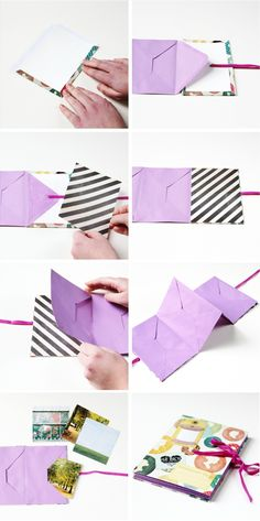 Leuk Moederdag cadeautje! Learn how to make your own Diy Accordion Folding Envelope Mini Album