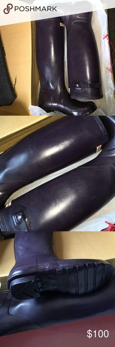 Hunter Boots Some discoloration but still beautiful boots! In great condition as you can see! These are TALL. I wear an 8 but these 7M fit perfectly. Ray-Ban Shoes Winter & Rain Boots