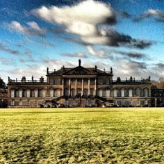 Wentworth Woodhouse, possibly the largest house in Britain and currently up for sale. Large wallet required to renovate it and repair the subsidence.