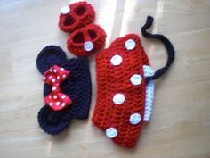 Minnie Mouse hat with Red Bow Diaper Cover by 1beautifulhandmade, $45.00