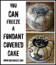 You Can Freeze a Fondant Covered Cake
