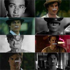 Damon Salvatore, hot throughout the years