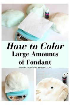 how to make colored fondant