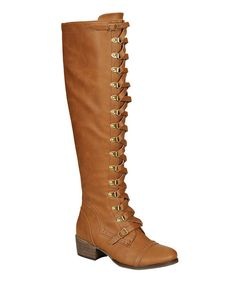 With just the right amount of military chic, these lace-up boots stand out from the mainstream crowds. 1.5'' heel19'' shaft15'' circumferenceMan-made upperRubber soleImported