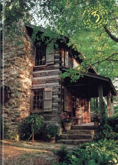 54 Ideas for exterior house rustic cabin Old Cabins, Cabins And Cottages, Cabins In The Woods, Rustic Cabins, Log Cabin Living, Log Cabin Homes, Small Log Cabin, Log Home Decorating, Little Cabin