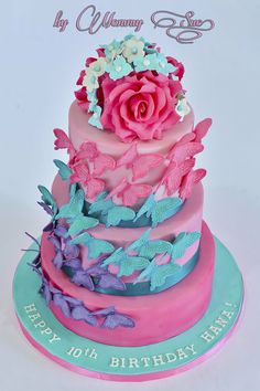 Love this!! ~ Butterfly wedding cake ~ totally edible