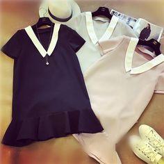 XL-4XL Black/Pink Short Sweet Sleeve Dress SP166495