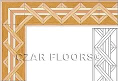 Wood Borders: B10. Check other inlays, wood and stone medallions, borders and parquet from Czar Floors.