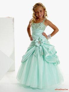 girl dresses pictures | dresses - Affordable A-Line Strap floor length Pageant Dress for Girls ...