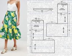 спідниці Asos midi skirt with pleated waist and wide frill. patterns # Sewing # Skirt # Pattern // Taika you can find similar pi. Sewing Pants, Sewing Clothes, Diy Clothes, Skirt Sewing, Skirt Patterns Sewing, Clothing Patterns, Pola Rok, Sewing Collars, Long Skirt Outfits
