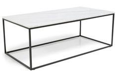 Sohvapöytä Titania Valkoinen marmori/Musta  120x60x45 cm