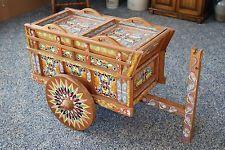Costa Rica Ox Cart Replica Maid / Bar / Drinks Souvenir Wood Colorful Beautiful