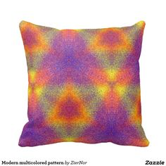 Modern multicolored pattern throw pillows