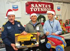 Big boys with their toys Big Boys, Chevron, Campaign, Lunch, Fire, Holidays, Toys, Celebrities, Christmas