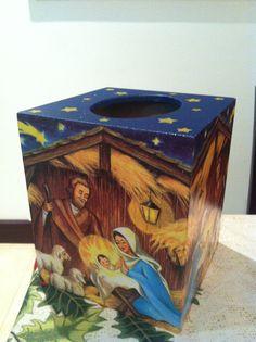 Nativity christmas decoupage
