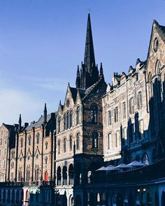 Morning light on Victoria Street  If only every weekend was full of blue skies & patisserie...  #storiesfromscotland See more from Scotland at http://laretour.com