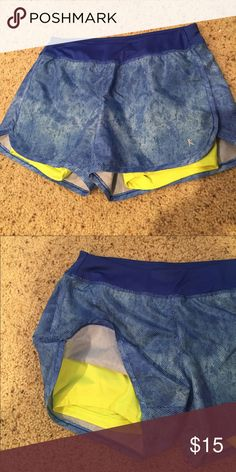 """Danskin Athletic Shorts So cute with a neon yellow top!  Semi fitted.  Outer short 11"""" Danskin Now Shorts"""