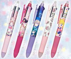 NEW Sailor Moon Frixion Ball Pens! more info: http://www.sailormooncollectibles.com/2016/12/06/sailor-moon-frixion-ball-pen-3-colours/