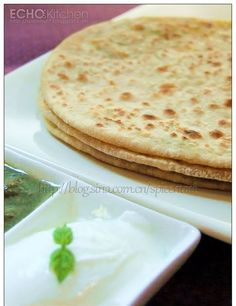 Paneer, a type of Indian Cottage cheese is a very good source of protein, and well loved by Indian.   This paratha stuffed with spiced P...