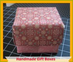 How to Make your own gift box with lid/How to Make a Gift Box Out of Scrapbook Paper - YouTube