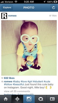 nothing i love better than Asian babies dressed as minions
