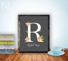 Nursery Letter Art Print Girl Wall Decor by PrintableWisdom, $8.00... So cute!