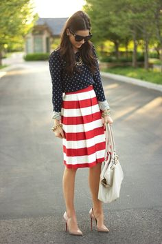 anchor shirt, striped skirt (wish the skirt was slightly shorter but cute)