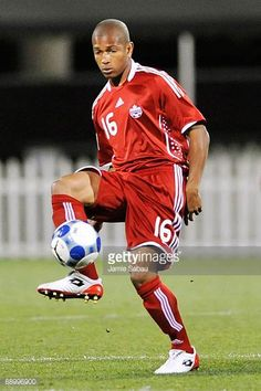 Simeon Jackson of Canada controls the ball against El Salvador during a CONCACAF Gold Cup match at Crew Stadium on July 7 2009 in Columbus Ohio
