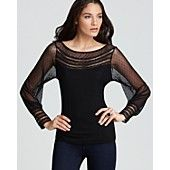 I would definitely wear this top.  Its black, sheer and sexy!