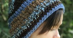 Blue & Brown Multi-Textured Slouchy Beanie Slouchy Hat Beanie Winter Hat Slouch Beanie Hat Knit Hat Slouch Hat Beanie Hat Beanie by GradyvilleFiberFarm on Etsy