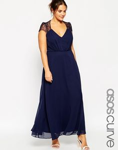 Vestido largo de encaje Kate de ASOS CURVE