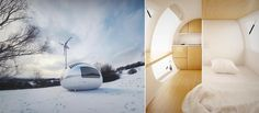 Check out the Ecocapsule, a small off-grid house equipped with everything two adults people may need to survive: electricity, running water and comfort.