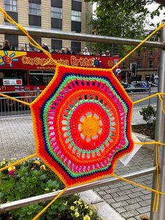 City Centre Yarn Bombing ~ Bristo  #crochet #knit #yarnbombing